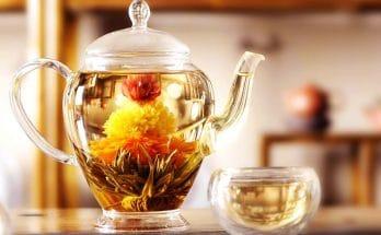 pot of premium ceylon tea