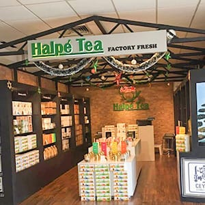 halpe tea promotional stand